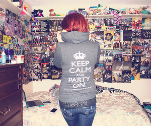 girl, keep calm, and party image