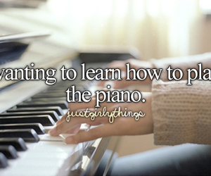 instruments, learn, and piano image