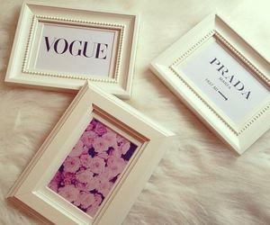 Prada, vogue, and flowers image