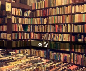 books, reading, and antique shop image