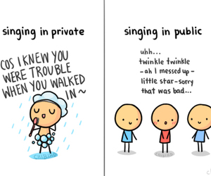 funny, singing, and public image