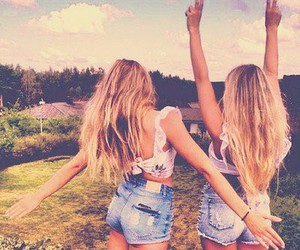girl, friends, and summer image