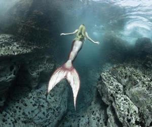mermaid, ocean, and magic image