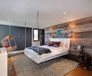 bedroom, bed, and beautiful image