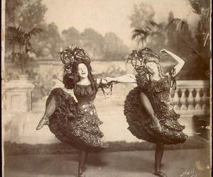 black and white, dress, and edwardian image