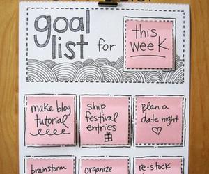 diy, goal list, and ideas image
