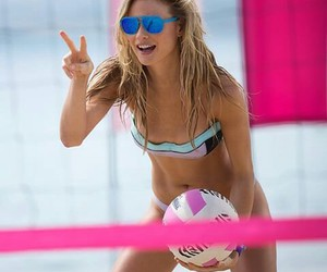 beach, volley, and Behati Prinsloo image