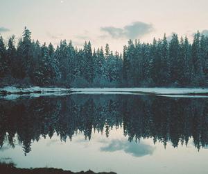 lake, winter, and nature image