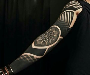 tattoo, black, and style image