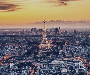paris, france, and sunset image