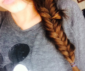 braid, braids, and brown hair image