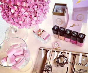 pink, vogue, and chanel image