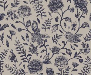 floral, lavander, and pattern image