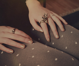 girl, ring, and rings image