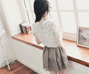 skirt, girl, and korean image