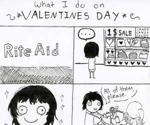 funny, san valentin, and alone image