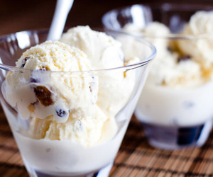 ice cream, food, and vanilla image