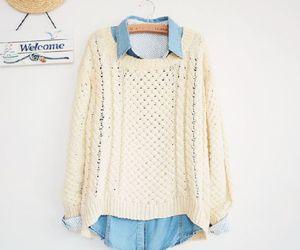 fashion, sweater, and shirt image