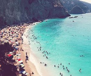 summer, beach, and people image