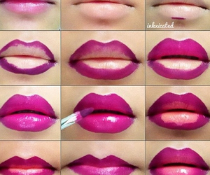 lips, makeup, and pink image