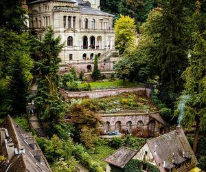 castle, house, and nature image