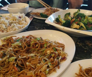 chinese, i love food, and hanging out with friends image