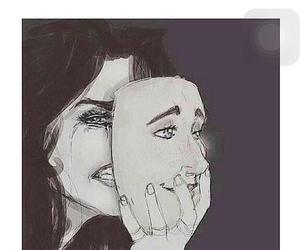 sad, deep, and cry image