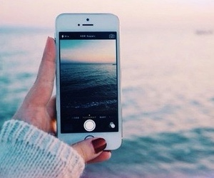 iphone, sea, and water image