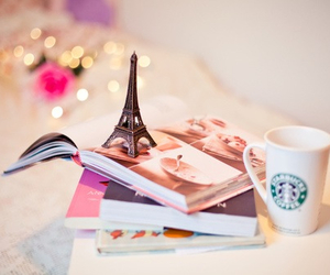paris, book, and starbucks image