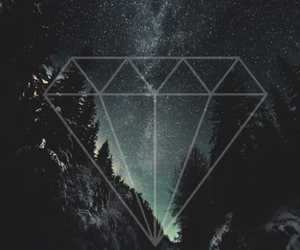 cool, diamond, and night image