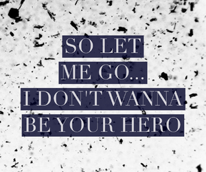 february, hero, and Lyrics image