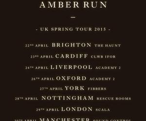 britain, tour dates, and amber run image