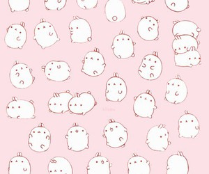cute, pink, and background image