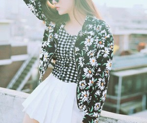 fashion, flower, and hairstyle image