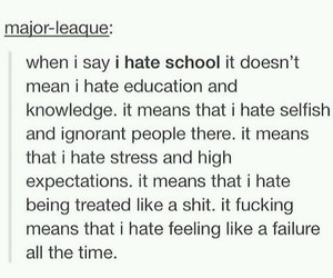 education, hate, and school image