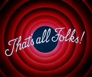 cartoon, that's all folks, and looney tunes image