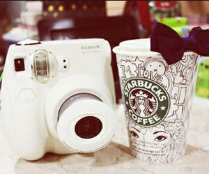 camera, starbucks, and cute image
