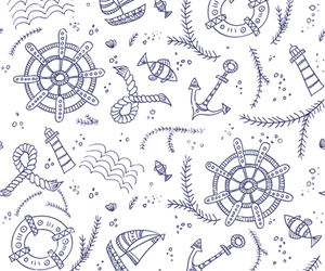 doodle, marine, and nautical image
