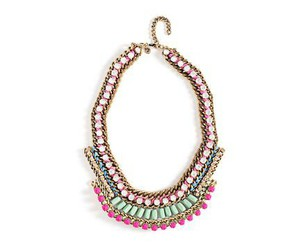 bead necklace, pink necklace, and neon necklace image