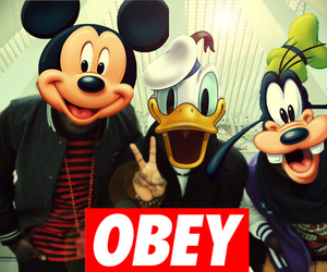 obey, swag, and disney image