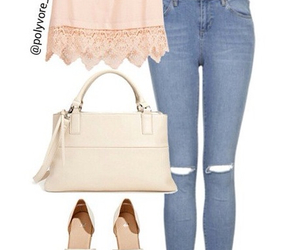 jeans, purse, and sandals image