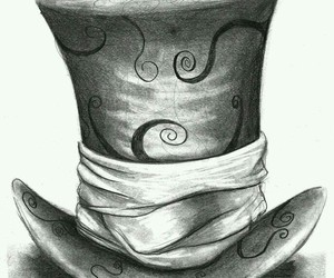 drawing, art, and hat image