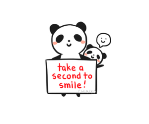 panda, smile, and cute image