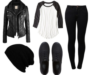 outfit, black, and vans image