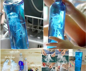 diy, blue, and bottle image