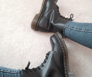 black, clothes, and doc martins image
