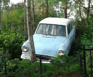 flying car, harry potter, and movies image