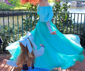 girl, ariel, and dress image