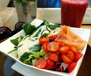 fit, food, and fresh image