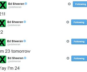 ed sheeran, 24, and birthday image